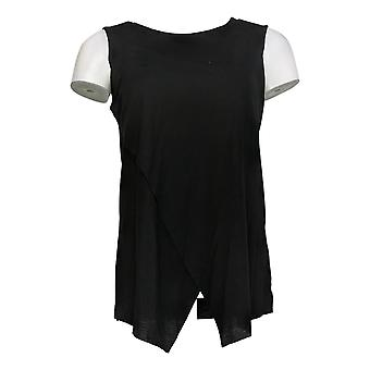 G By Giuliana Women's Top Pullover Crossover Tank Black 709-481