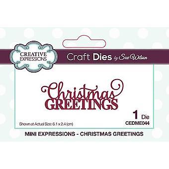 Expressões Criativas Mini Expressões Coleção Corte Morre - Saudações de Natal
