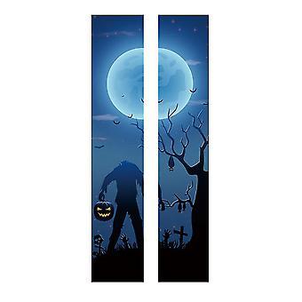 Halloween Removable PVC Waterproof Headless Zombies DIY Wall Stickers