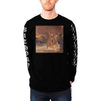 Bathory T Shirt Hammerheart band logo new Official Mens Black Long Sleeve