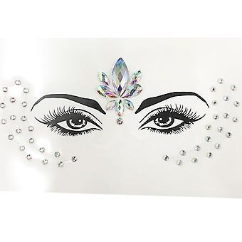 Temporary Women's Chest Jewels Crystal Face Decoration Diamond Acrylic