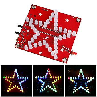 Diy Welding Electronic Bulk Parts, Colorful Music Five-pointed Star, Led Light