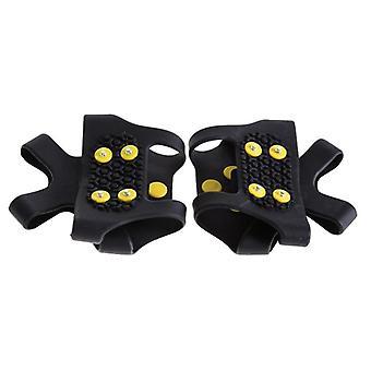 10-Studs Schneeeis, Kunststoff Elastomer, Klettern Spikes Griffe, Cleats Schuhe