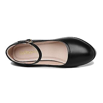 Women's Shoes With Round Head And Thick Heel