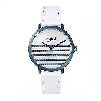 Jean Paul Gaultier Dameshorloge - 8506114 - Witte Leren Armband