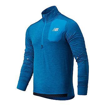 New Balance Heat Grid Half Zip M MT03255WBH hommes sweatshirts