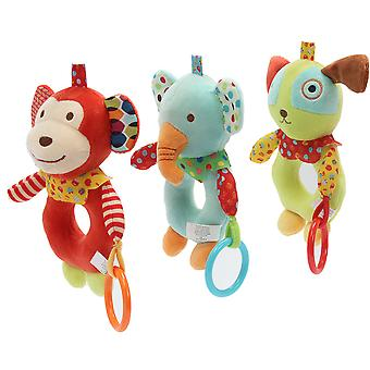 Cartoon Dog Rattling Doll Cute Baby Hanging Toys With Bell Sound Paper For Children 0-2 Soft Plush Rattle Toys