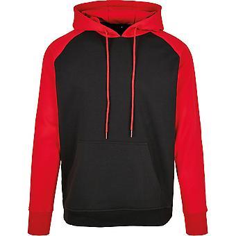 Cotton Addict Mens Basic Raglan Comfort Fit Sporty Hoodie