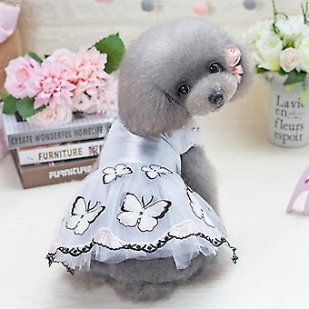 כלב חתול בגדים פרפר חלום נסיכה שמלה טדי האביב והקיץ רזה