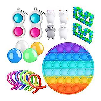 19st Pack Fidget Leksaker Sensory Toy Set Antistress Relief Fidget Leksaker