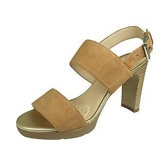 Geox D Annya A Womens High Heeled Sandal Leather - Cognac