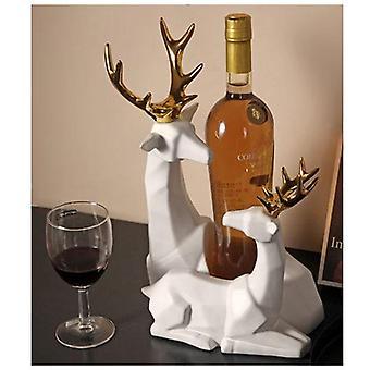 Ceramic Two Reindeers Wine Rack