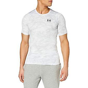 Under Armour HeatGear - Miesten t-paita, valkoinen/musta lyhythihainen (100) L