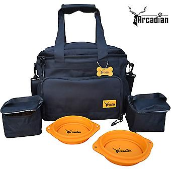 FengChun Dog Walking Bag. A Perfect Camping Travel Kit, Multiple Storage Compartments, Lined Feed