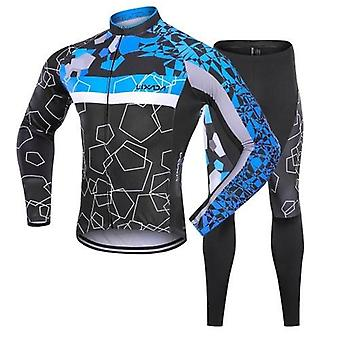 Men Winter Thermal Fleece Cycling Clothing Set