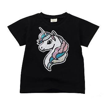 Vändbar bomull Casual T Shirt Kids för Unisex