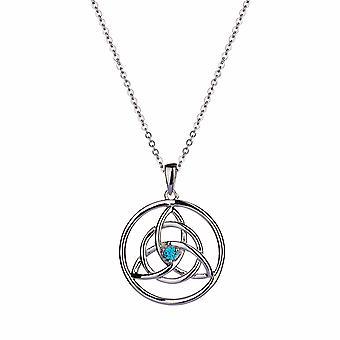Forever - Triquetra - Celtic Icons Halsband - 40cm +3cm extender - Blå - Smycken Gåvor för Kvinnor från Lu Bella
