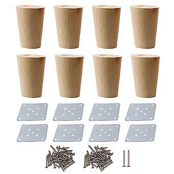 8 x piezas de muebles de madera 8x5.8x3.8cm piezas de reemplazo de muebles para el hogar