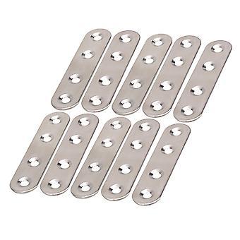 Connecteur plat de plaque de broches plaquées zinc 10-Pack 0.7-in x 3-in
