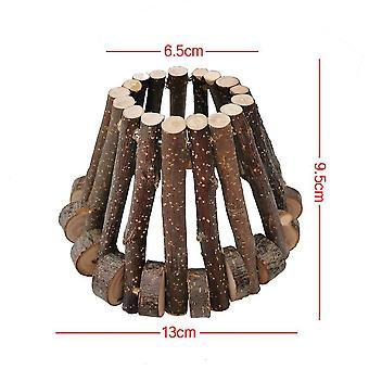 جديد هامستر خشبي عش الدب الذهبي تجنب البيت الخشبي فيلا بيت الحيوانات الأليفة مولار لدغة لعبة ES4927