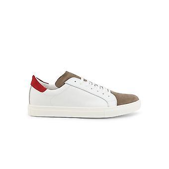 Duca di Morrone - Sko - Sneakers - GIORDANO-PELLE-BIANCO-ROSSO - Mænd - hvid,rød - EU 45