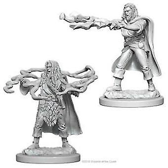 Fangehull & Drager Nolzurs fantastiske umalte miniatyrer menneskelig mannlig trollmann