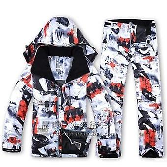 Winter Men Ski Suit, Skiing Snowboard Jacket + Pants