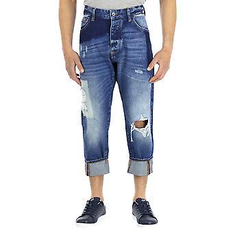 Armani Jeans Men 5 pockets Pants Boyfriend Calf length  Denim