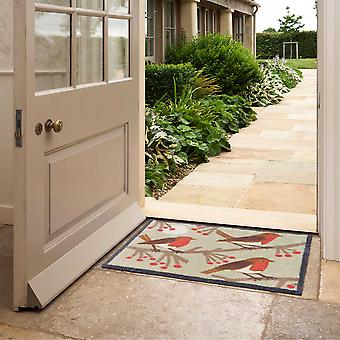Red Robin Washable Doormats In Multi