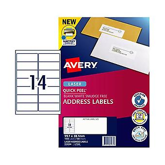 Avery Laser Label Qp L7163 14Up Pack Of 100