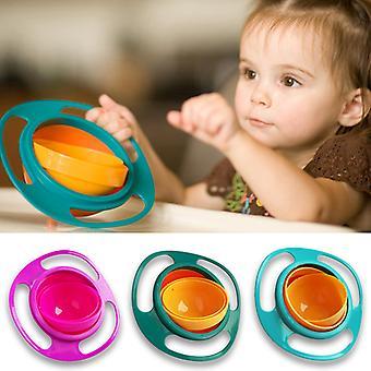 360 Rotate Baby Spill-Proof Feeding Dishes Universal Gyro Bowl Practical Design Children Rotary Balance Novelty Gyro Umbrella