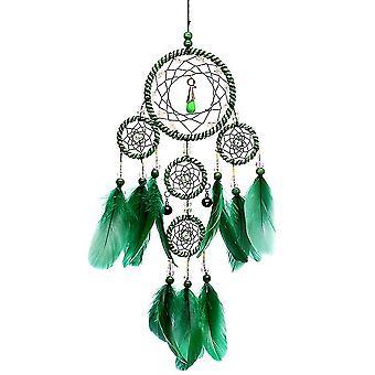 Green Feather Dream Catcher handgemaakte muur hangende hanger geweven kunst decor ambachten