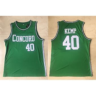 Mens Basketball Jerseys Concord Academy Kemp 40 Space Movie Jersey 90s Hip Hop Clothing For Party S-xxl Green