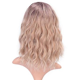 Wigs for women  orange short bob wavy partial synthetic women's wigs for cosplay natural hairline full wigs cospl