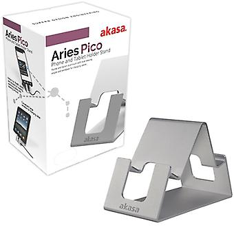 Akasa Aries Pico Silver Phone and Tablet Holder Stand