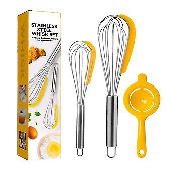 3pack Manual Whisk Household Blender Balloon Whisk Baking Tools Set