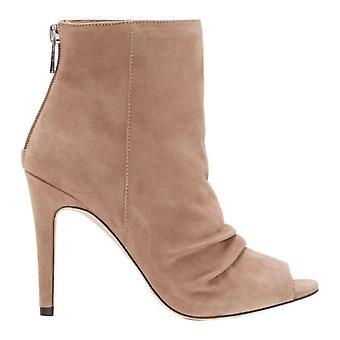 Jessica Simpson Womens Elyn Leather Peep Toe Ankle Fashion Boots