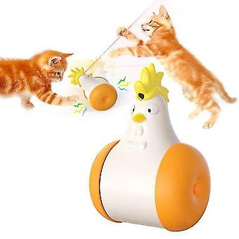 חשמלי רב פונקציה נשמע Tumbler לייזר להקניט צעצועים עבור חתול תנועה אוטומטית(כתום)