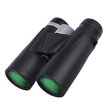 Jumelles compactes 10x42 pour adultes observation des oiseaux, voyage, PRISME BAK4, objectif FMC, antibrouillard et imperméable à l'eau avec sac de transport, (noir)