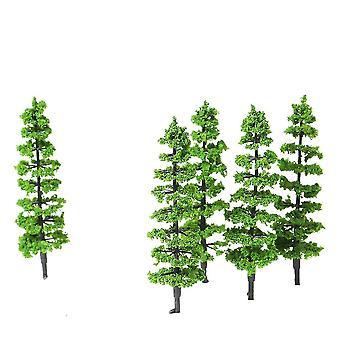 10 pcs Model Fir Tree Plastic Miniatura Krajobraz Sceneria Pociąg Koleje Mini Układ