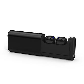 Chronus Bluetooth True Wireless in-ear hoofdtelefoon met geïntegreerde microfoon, aanraakfunctie en tot 5 uur muziekweergave (zwart)