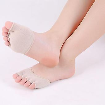 Women Socks Sponge Silicone Anti-slip Lining Open Toe Heelless Invisible