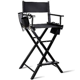 Professional Makeup Artist Foldable Chair Sturdy Solid Hardwood Frame