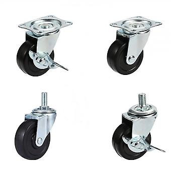 Pack Of 4, Swivel Rubber Casters For Furniture