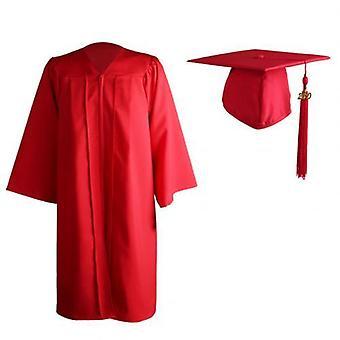 Adult Zip Closure Université Academic Graduation Gown Robe Mortarboard Cap
