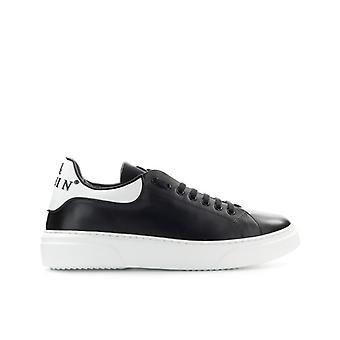 Philipp Plein Leather Runner Big Bang Black White Sneaker