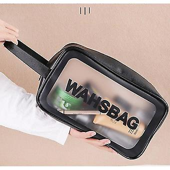 Laundry baskets 1pc s ladies travel household storage wash bag large capacity pu frosted waterproof cosmetic bag