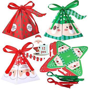 Kreative Weihnachtsgeschenkbox Ribbon Diamond Geschenkbox (12 Stück)