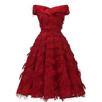 Kvinnor & s elegant brudtärna klänning för bröllop