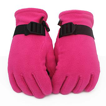 Outdoor Reiten Warme Fleece Handschuhe Rose Rot